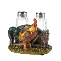 COUNTRY FARM ROOSTER SALT AND PEPPER HOL