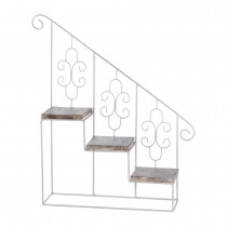 WHITE STAIRCASE WALL DISPLAY