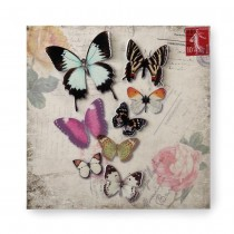 BUTTERFLY POSTCARD 3-D WALL ART